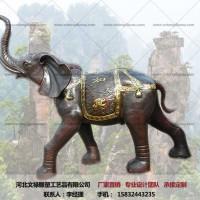 铜大象摆件-铸铜大象-文禄