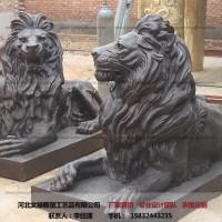 铜狮子摆件-大型铜狮子-文禄