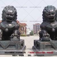 铜狮子摆件-故宫狮雕塑-文禄