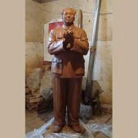铜雕孔子像_河北文禄铜雕厂订做人物铜像